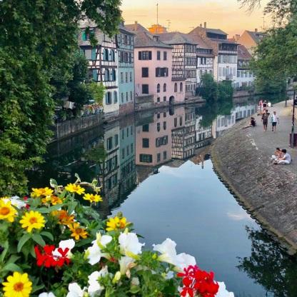 Golden hour in Strasbourg